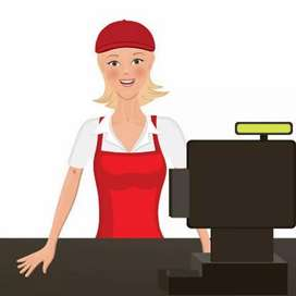 We need Ladies Cashier for Vegetarian hotel