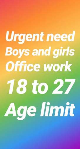 Part Time and full time work for girls and boys