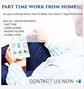 Part time job / earn money online working at home