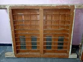 sagwan door and window