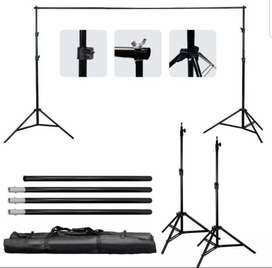Taffstudio bracket stand 3m untuk backdrop foto studio BS-300