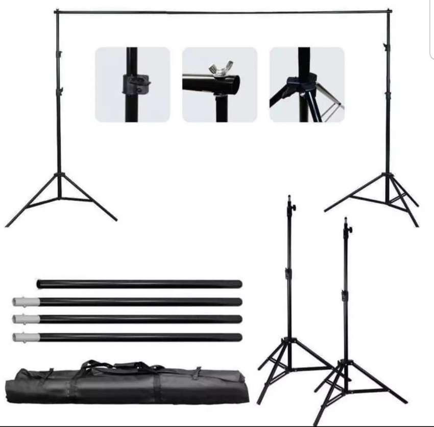 Taffstudio bracket stand 3m untuk backdrop foto studio BS-300 0