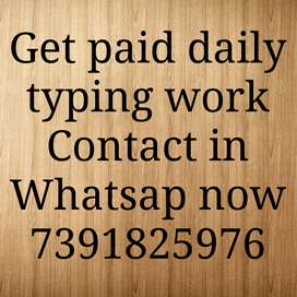 Typing Job opportunity get paid daily  For all information you have to
