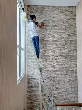 Jual wallpaper dinding harga murah motif timbull