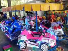 wahana kereta panggung mini odong komedi putar MRC pink ready stock