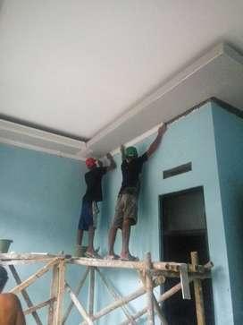 JASA PEMASANGAN PLAVON PVC GYBSUM TERMURAH ANTI BOCOR ANTI RAYAP