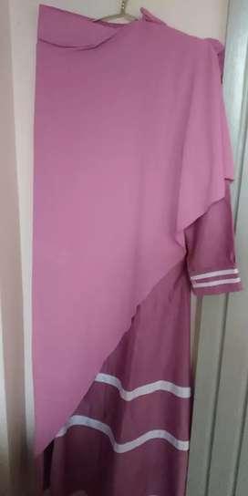 gamis syarii satu set tersedia warna coklat dan dusty purple