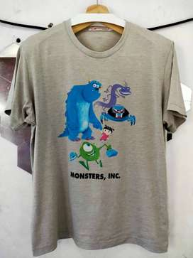 Kaos Uniqlo Disney Monsters Inc Abu Abu