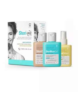 Steri 360 . Hand sanitizer, hand wash, surface disinfectant