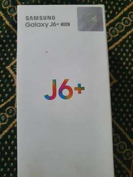 Samsung j6 plus PTA approved box and charger.