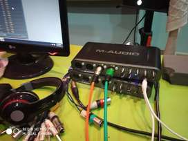 M audio soundcard 8in8out