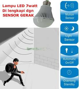 Lampu LED 7watt with Sensor Gerak / motion