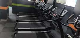 Treadmill and spin bike