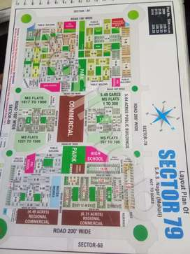 Available 6 marla plot front pocket sector 79