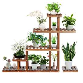 Modern style wooden plants stand
