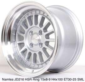 Harga velg NAMLEA JD216 HSR R15X8/9 H4x100 ET30/25 SML