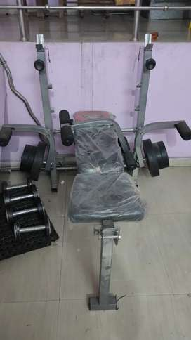 Gym Bench Press with weights 30kg iron bar