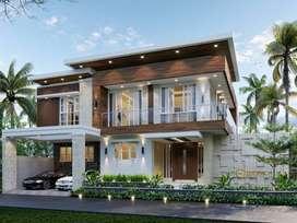 Jasa Arsitek Bukittinggi Desain Rumah 450m2