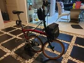 Sepeda Lipat Brompton M6L Twotone 2020 Variasi abis 25jt Spt baru