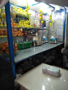 Juice counter corner At Allah.hu chowk johar town near ibrahim pharmcy