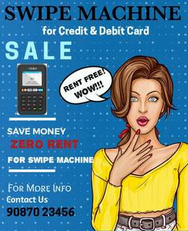 SWIPING MACHINE Amazing Rent Free offer