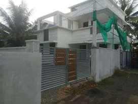 7cent plot with 3bhk house near police station cherthala