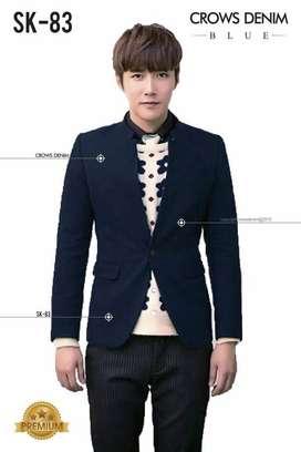 Blazer Royal Blue Skinny Korean Style