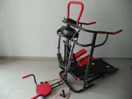 TL 004 manual treadmill 6 fungsi black