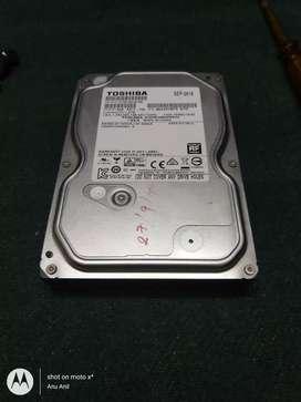 1 tb toshiba Internal harddisk with external harddisk ..
