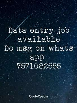Limited seats opportunity for data entry job for all areas