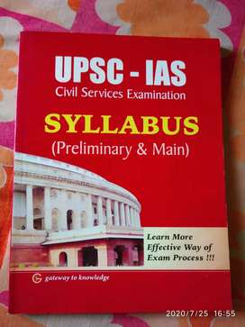 UPSC - IAS Syllabus for Preliminary and Main