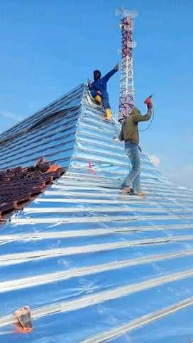 Rangka atap baja ringan TASO & Plafon PVC