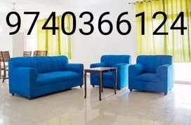 Blue moshi 3+1+1 seater sofa
