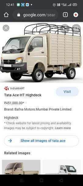 daily rent for tata ace any company purpore