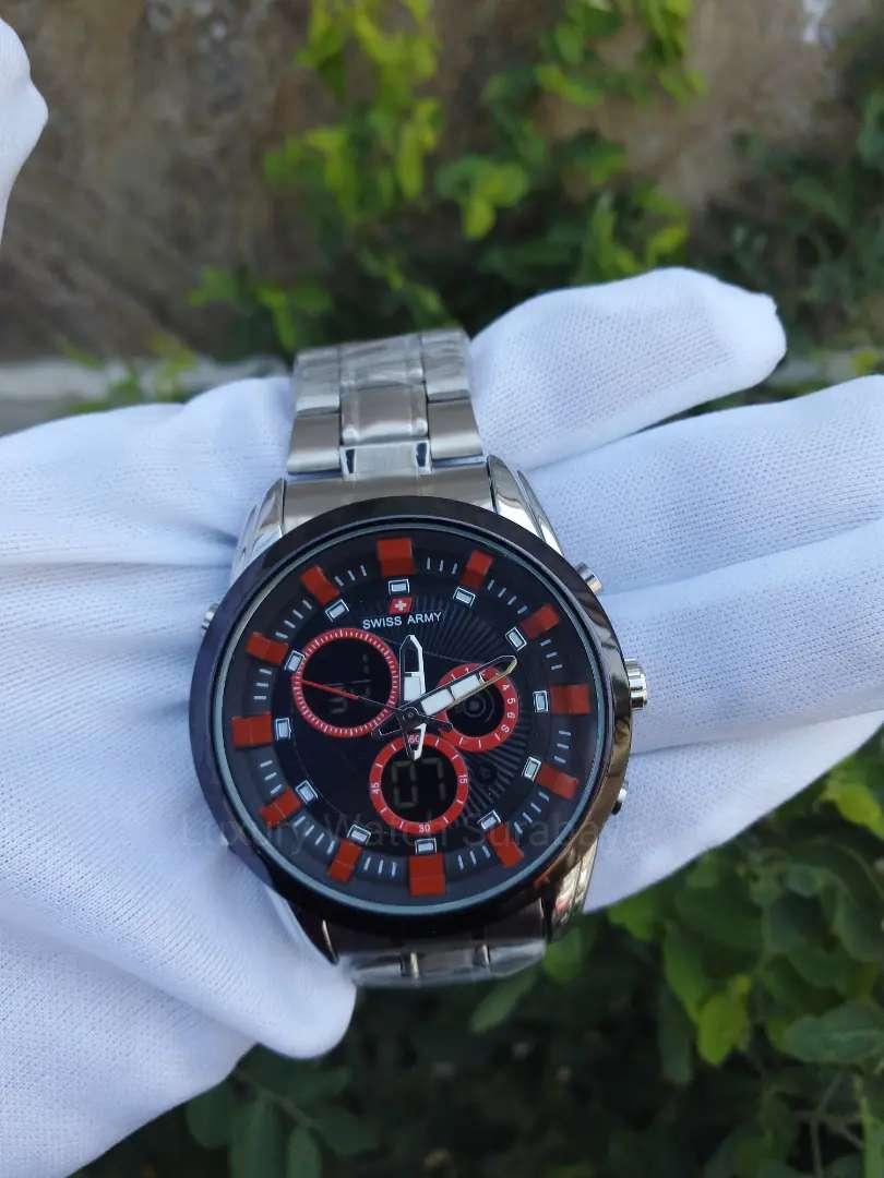 Jam tangan Pria Swiss army rantai silver 0
