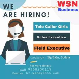 Urgent required female & male telecallers