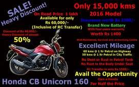 As Good As New Honda CB Unicorn 160