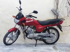 Suzuki 110cc red colour