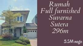 Jual cepat rumah Full Furnished Suvarna Sutera