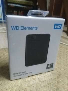 WD Elements External hard disk 2TB new sell packed