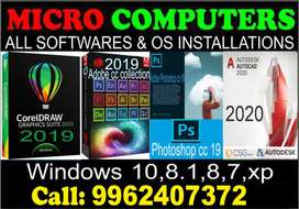 ALL SOFTWARES,OS INSTALLATION:WINDOWS 10(Digital License)All Repairs