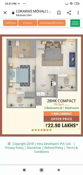 Flat for sale at 7.00 lacs only