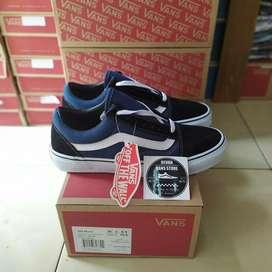 Sepatu Vans Old skool Blue Navy (Free Kaos Kaki Premium)