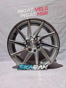 Jual Velg HSR WHEEL Ciao Ring 15x7 H8(100/114, 3) Silver Polish