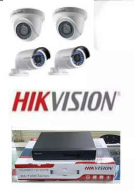 Kamera cctv terbaik, hikvision 4 channel.hd 2mp