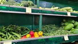 Vegetable shop worker