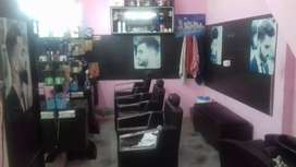 Full barber accessories and chairs