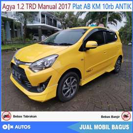 [Dp16jt] Agya 1.2 TRD mt 2017 km 10rb AB Tgn1 antik bs kredit