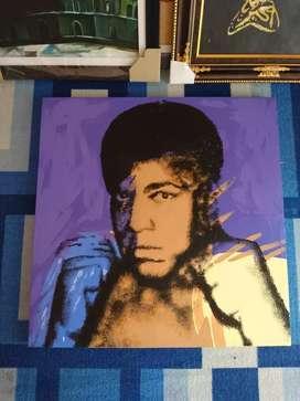 Lukisan Pop Art Muhammad Ali