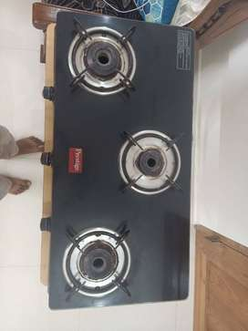 Prestige GLASS TOP LPG Stove with 3 burners